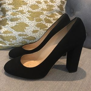 J. Crew Etta Pumps in Black Suede - Size 7-1/2